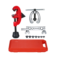 Heat Treated Steel Tube Cutter Copper Brake Fuel Pipe Repair Double Flaring Die Tool Set Clamp For Cutting And Flaring Copper