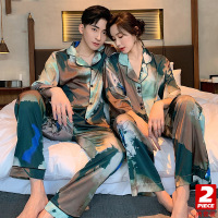 Night Suit Men & Women Casual Home Clothing NightwearLuxury Pajama Suit Satin Silk Pajamas Sets Couple Sleepwear Pijama Lovers