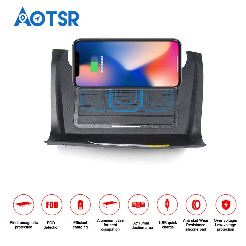 Wireless car charger for Range Rover Discovery Sport 2018 Intelligent Infrared fast charger wireless for Mobile Phone charger qi