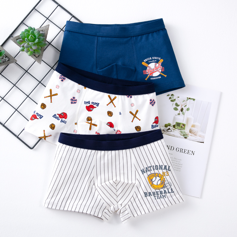 3Pcs/lot High Quality Boy Kids Underwear Boxer Cotton Children Cartoon Underpants Toddler Baby Panties Briefs Shorts Boys 4-16Y