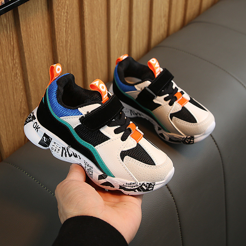 Winter Kids Sports Shoes Children Casual Boys Patchwork Running Sneakers Fashion Autumn Graffiti Girls Student Boots