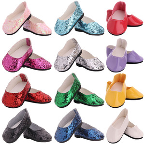 Кукольная обувь 7 см обувь с блестками сапоги для 18 дюймов американский и 43 см Новорожденный ребенок новорожденный кукла, Девочка Россия DIY п...