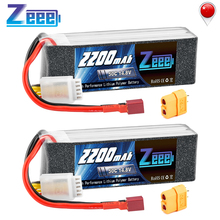 2units Zeee 4S RC LiPo Battery 14.8V 2200mAh 50C with Deans Plug XT60 Connector For RC Car Helicopter Drone Boat Airpplane цена