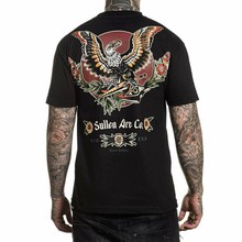 Sullen MenS Liberty t-shirt manica corta abbigliamento nero abbigliamento t-shirt t-shirt M Xl 2Xl 4Xl Tee Shirt
