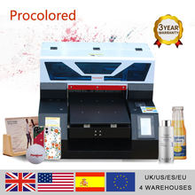 Procolored 2021 Flatbed UV Printer A3 for Glass Bottle Acrylic Metal Phone Case Multifunction UV Printers A4 Printing Machine