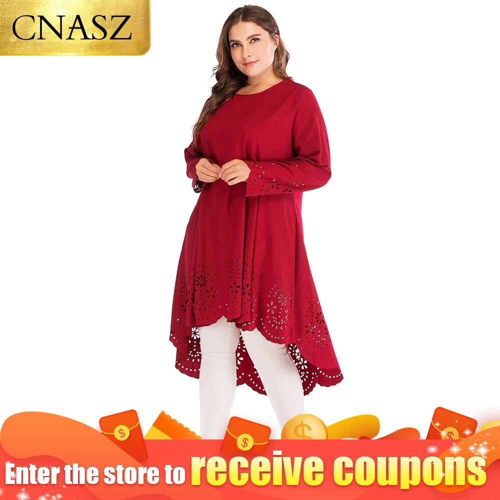 Muslim Long Tops Arabic 6xl Plus Size Blouse Hijab Dress Abayas For Women