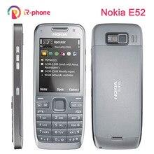 Nokia e52 remodelado telefone móvel 2g 3g wifi 3mp celular & teclado russo teclado árabe desbloqueado