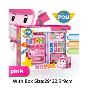 Image 4 - Robocar Poli  Child Toy Drinks Automatic Vending Machine Goods  Pretend Play House Toys Children Girls Furniture for dollhouse