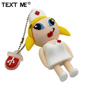 Image 3 - Tekst mi nowy styl cartoon pielęgniarka model usb2.0 4GB 8GB 16GB 32GB 64GB pen drive pamięć USB kreatywny Pendrive