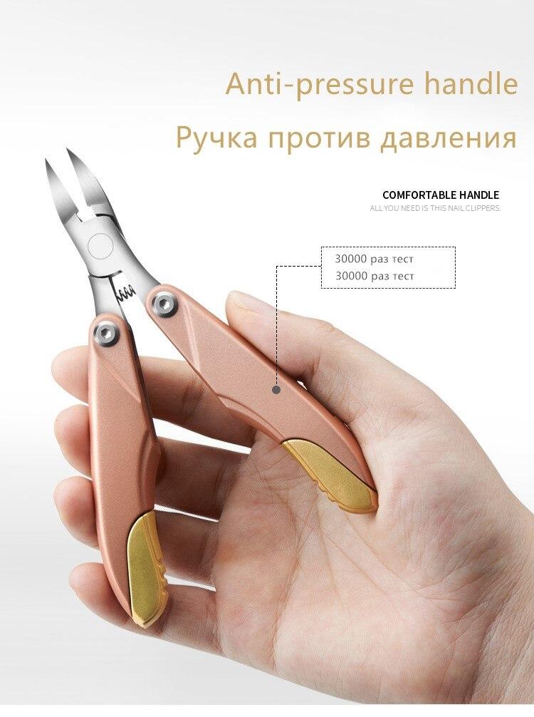 Alicate cortador curvado de unhas, mais novo