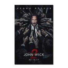 John Wick 2 película de seda cartel 12x18 24x36 pulgadas arte de la pared impresiones película fotos para vivir casa habitación decoración carteles Vintage