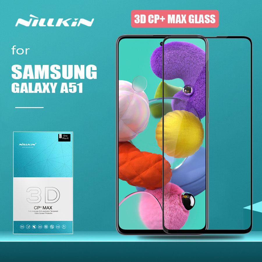 for Samsung Galaxy A51 Glass Nillkin CP+ Max Full Cover 3D Safety Tempered Glass Screen Protector for Samsung Galaxy A51 HD Film