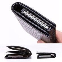 DIENQI Тонкий RFID кошелек, визитница, Мужской винтажный кожаный держатель для карт чехол, кредитная карточка, карманная защитная сумка, держате...