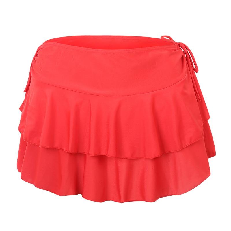 South Korea Beach Skirt WOMEN'S Red Flounced Cover Skirt