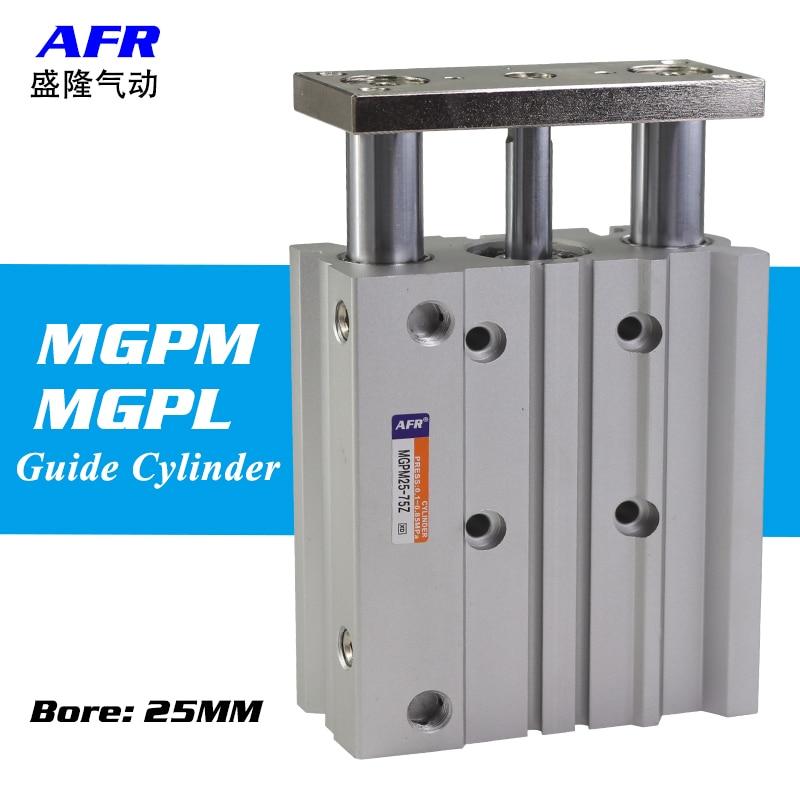 Cylindre d'air MGPM25-150Z MGPM25-175Z cylindre mince avec tige trois axes trois barres composants pneumatiques MGPL25-150Z MGPL25-175Z