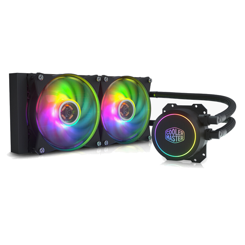 Cooler Master B240 CPU Water Cooler Double 12cm 5V 3PIN ARGB 12V 4PIN RGB Fan CPU Cooler Liquid Cooling For Intel AMD image