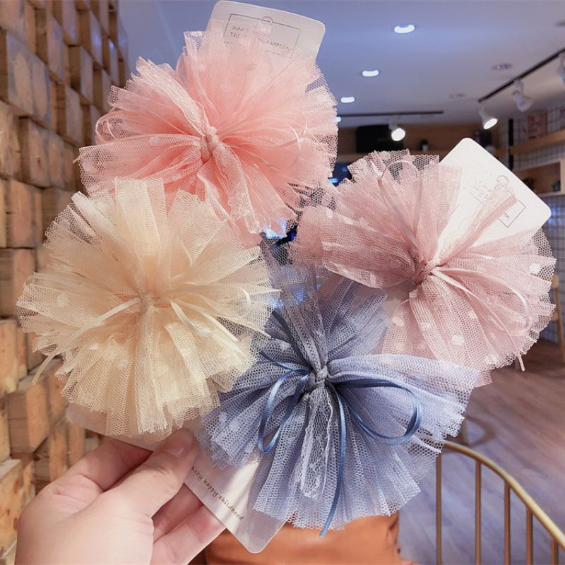 Korean Girls Hair Clips For Hair Mesh Yarn Lace Hair Bows Birthday Kids Hairpins Princess Cute Barrettes Hair Accessories