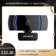 PAPALOOK AF925 1080P Full HD Autofocus Webcam Con Riduzione Del Rumore Mic USB Web Camera Video Conferenza Per Il Computer Portatile Del Computer