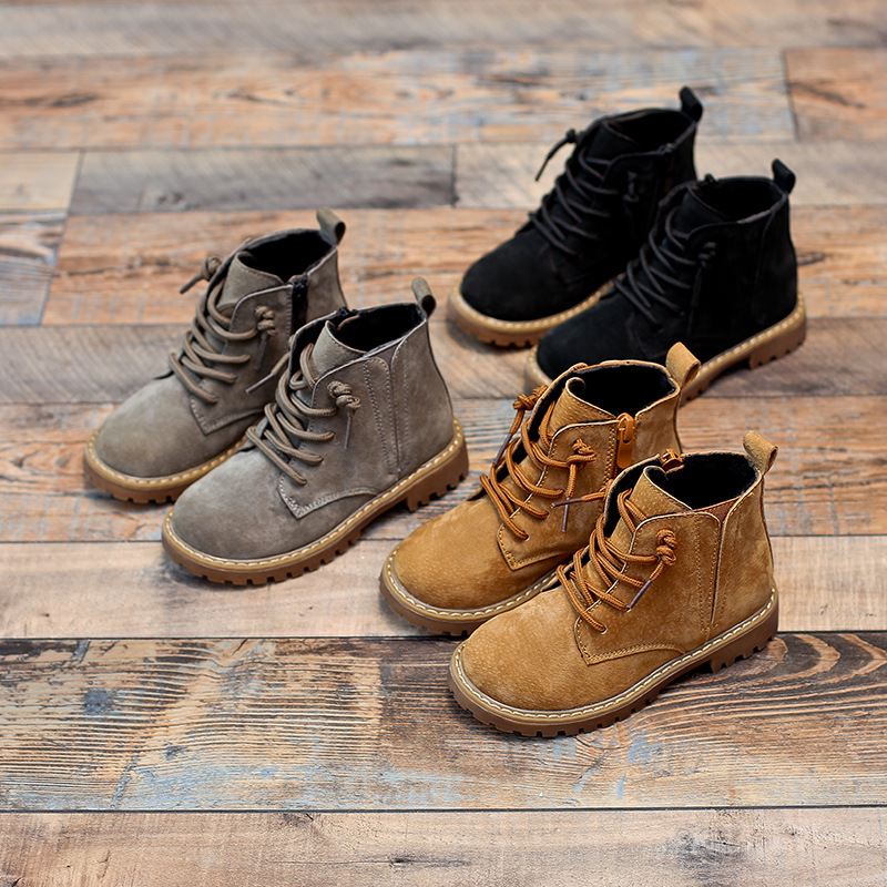 Image 5 - Winter Kids Boots For Boys 2019 Genuine Leather Children Snow Boots Sneakers Toddler Girl Winter Shoes Plush Warm Martin Boots-in Boots from Mother & Kids