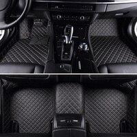 Leather Custom car floor Foot mat For hyundai santa fe solaris 2011 tucson 2017 elantra accent i30 waterproof car accessories