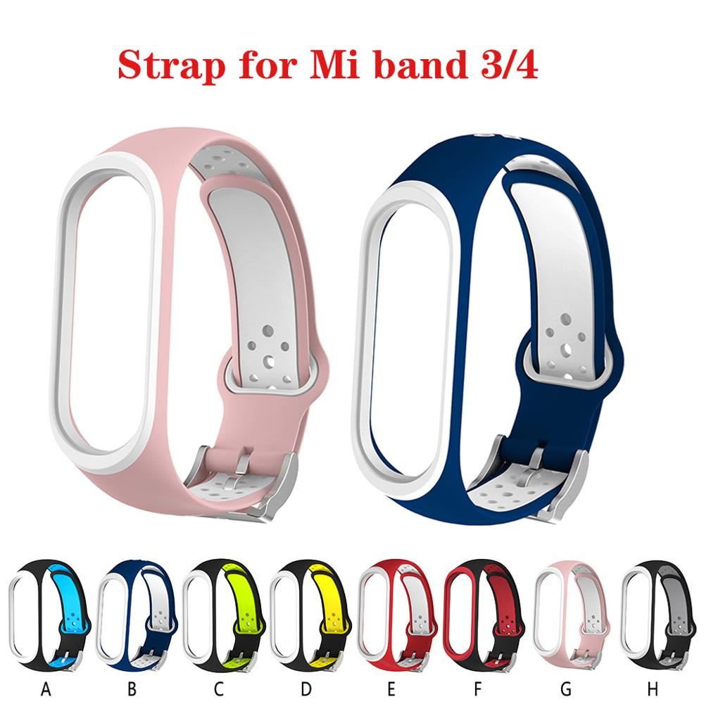 Colorful Mi Band 4 Accessories Pulseira Miband 4 Strap Replacement Silicone Wriststrap For Xiaomi Band 3smart Bracelet Wristband