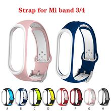 цена на Colorful mi band 4 accessories pulseira miband 4 strap replacement silicone Wriststrap for xiaomi band 3smart bracelet Wristband