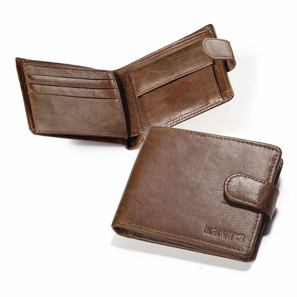 Wallet Cowhide Man Short Fund men purse high dinero bolsa hombre Vintage negro corto monedero Mini Billeteras delgada hot sale