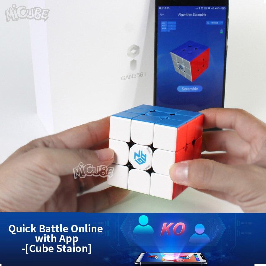 GAN356 i Cube de vitesse magique magnétique 3x3x3 GAN356i Station de Cube App GAN 356i aimants Cubes de compétition en ligne GAN 356 - 2