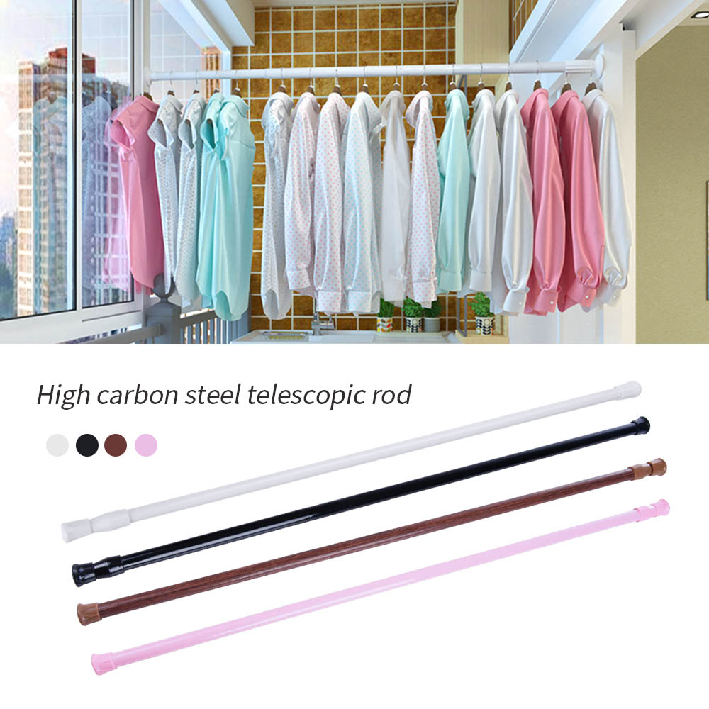 Adjustable Telescoping Shower Curtain Rods And Accessories Extendable Tension Pole Rod Hanger Spring Loaded Bathroom Product