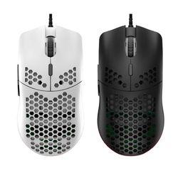 M6 pusty wzór plastra miodu mysz do gier lekkie myszy do gier przewodowych RGB 12000DPI 7 klawiszy dla miłośników gier