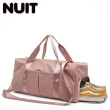 Fashion Nylon Travelling Handbags For Women Casual Tote Travel Training Bags Men Sport Gymtas Yoga Gym Dry Wet Bag
