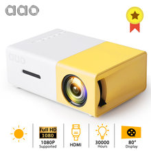 AAO YG300 LED Mini Projector Audio YG-300 YG310 HDMI USB 3D Pico Proyektor Home Media Player LCD Video Projector Anak-anak anak Hadiah(China)