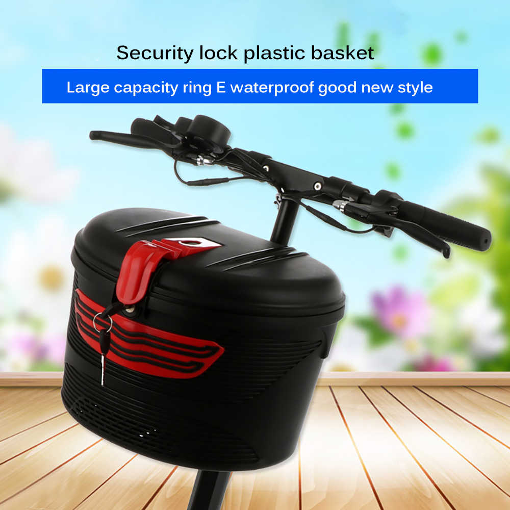 Plastic Basket with Cloth Lining and Lock for Xiaomi Mijia M365 Electric S G8R1