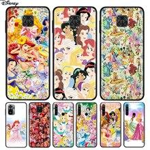 Silicone Cover Disney Princess For Xiaomi Redmi Note 10 10S 9 9C 9S Pro Max 9T 8T 8 7 6 5 Pro 5A 4X 4 Phone Case