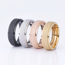 1pcs Couple Rings frosted Rings Stainless Steel Simple Style Rings For Men and Woman Weddings Ring Valentine's Day Lovers Gift