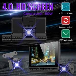 Image 2 - Full HD 1080P gece görüş çizgi kam 4.0 inç dokunmatik ekran dikiz aynası Video uzaktan kaydedici araç içi kamera Registrator