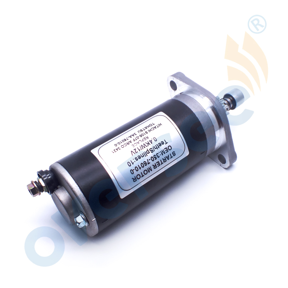 350-76010 Starter For Tohatsu Outboard Motor 2T 8/9.8/15/18HP 1992-06 350-76010-0M 3AA-76010 3421
