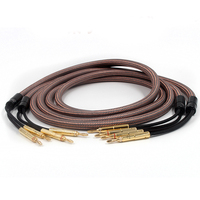 Pair Accuphase OCC pure copper audio speaker cable with Gold plated banana plug