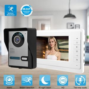7inch LCD Video Door Phone Doorbell Intercom Camera Monitor Home Security System 110-240V Motion sensor bell