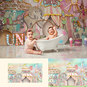 Circus-Baby Kids Portrait Backdrops Circus Birthday Baby Shower Party Decoration Acrobats Animals Backdrop for Photography circus max