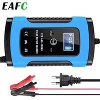 Cargador de batería automático para coche, unidad de carga de 12V, 6A, reparación inteligente para almacenamiento de ácido de plomo