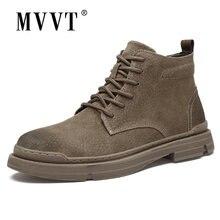 Мужские зимние ботинки из натуральной кожи Теплые ботильоны