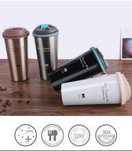 500ml Double Wall Stainless Steel Vacuum Flasks Car Thermal Travel mug portable thermos drinkware coffee tea