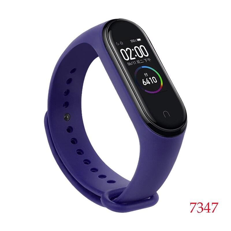 Для Xiaomi Mi Band 4/3 ремешок Металлическая пряжка силиконовый браслет аксессуары miband 3 браслет Miband 4 ремешок для часов М - Цвет: 7347