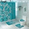 Klassische Floral Bad Matte für Bad Nicht Slip Mikrofaser Bad Matte und Dusche Vorhang Set Bad Teppich Wc Badezimmer Teppich matte
