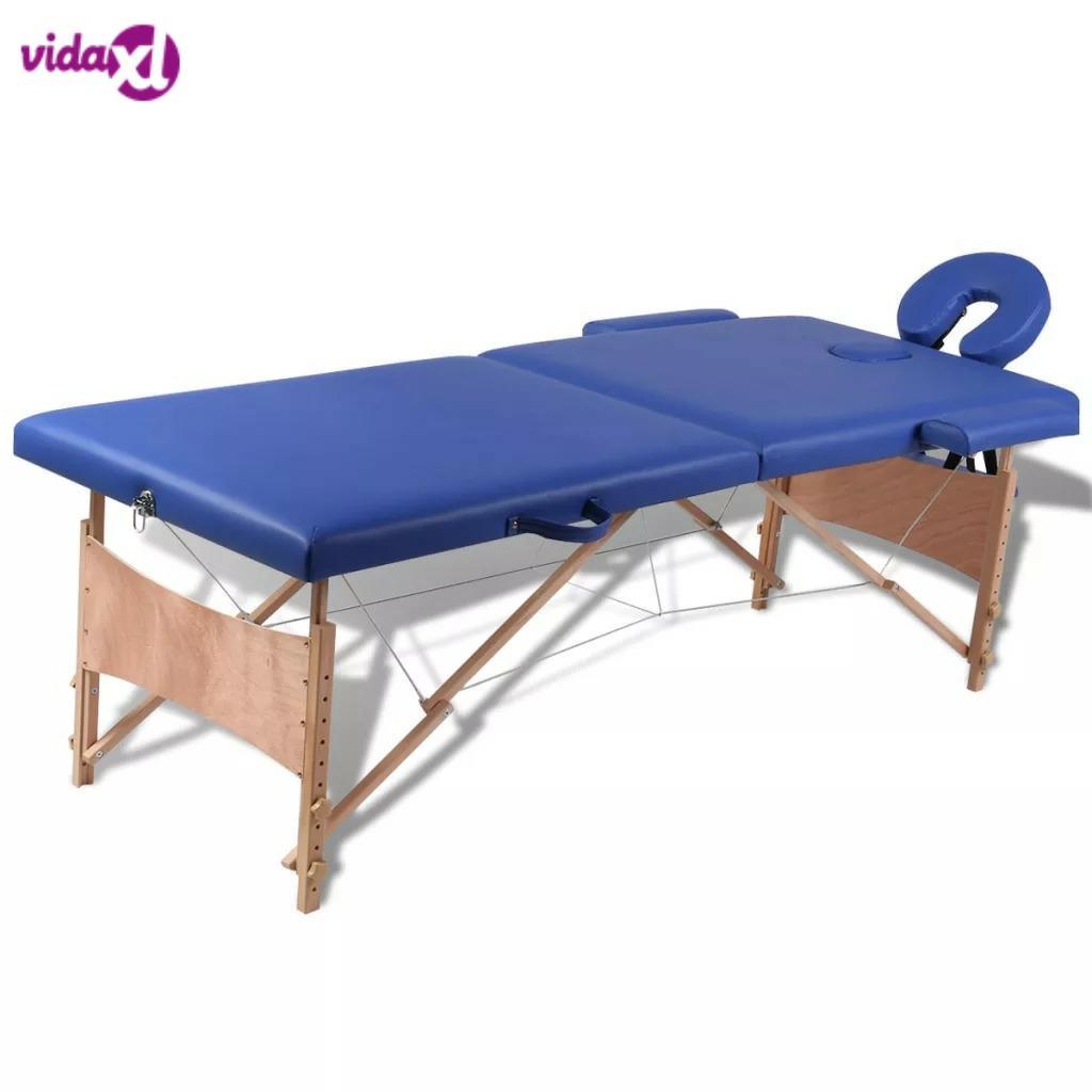 VidaXL Складная Кровать для красоты 186X68 см, профессиональные портативные массажные столы для спа, складная с сумкой, мебель для салона, деревянная V3