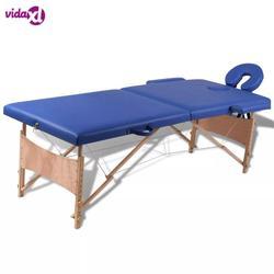 VidaXL Pieghevole Bellezza Letto 186X68 Cm Portatile Professionale Spa Lettini Da Massaggio Pieghevole Con Il Sacchetto Mobili da salone di Legno V3