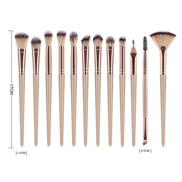 12PCS Makeup Brushes Set Eye Shadow Eyeshadow Brushes Foundation Extension Make up Brush Kits pincel Maquiagem For Makeups Tools 2