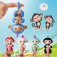 Figura de ação macaco feliz dedo do bebê macaco eletrônico animais de estimação crianças fingertip macaco inteligente brinquedo interativo para crianças presente