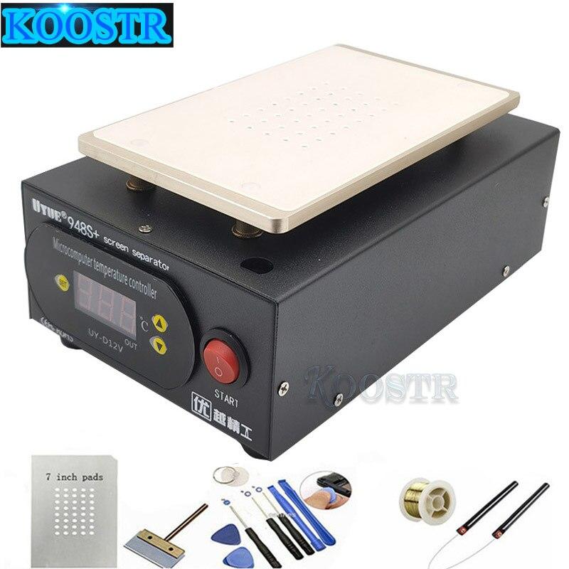 Hot Sale UYUE 948S+ LCD Separator Machine Screen Repair Machine Build-in Pump Vacuum Kit For IPhone For Samsung+Gift
